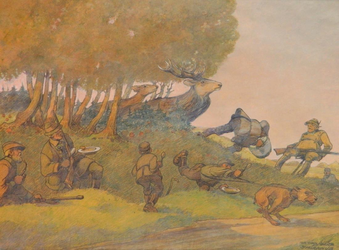 Georg Schutz color pencil and pastel
