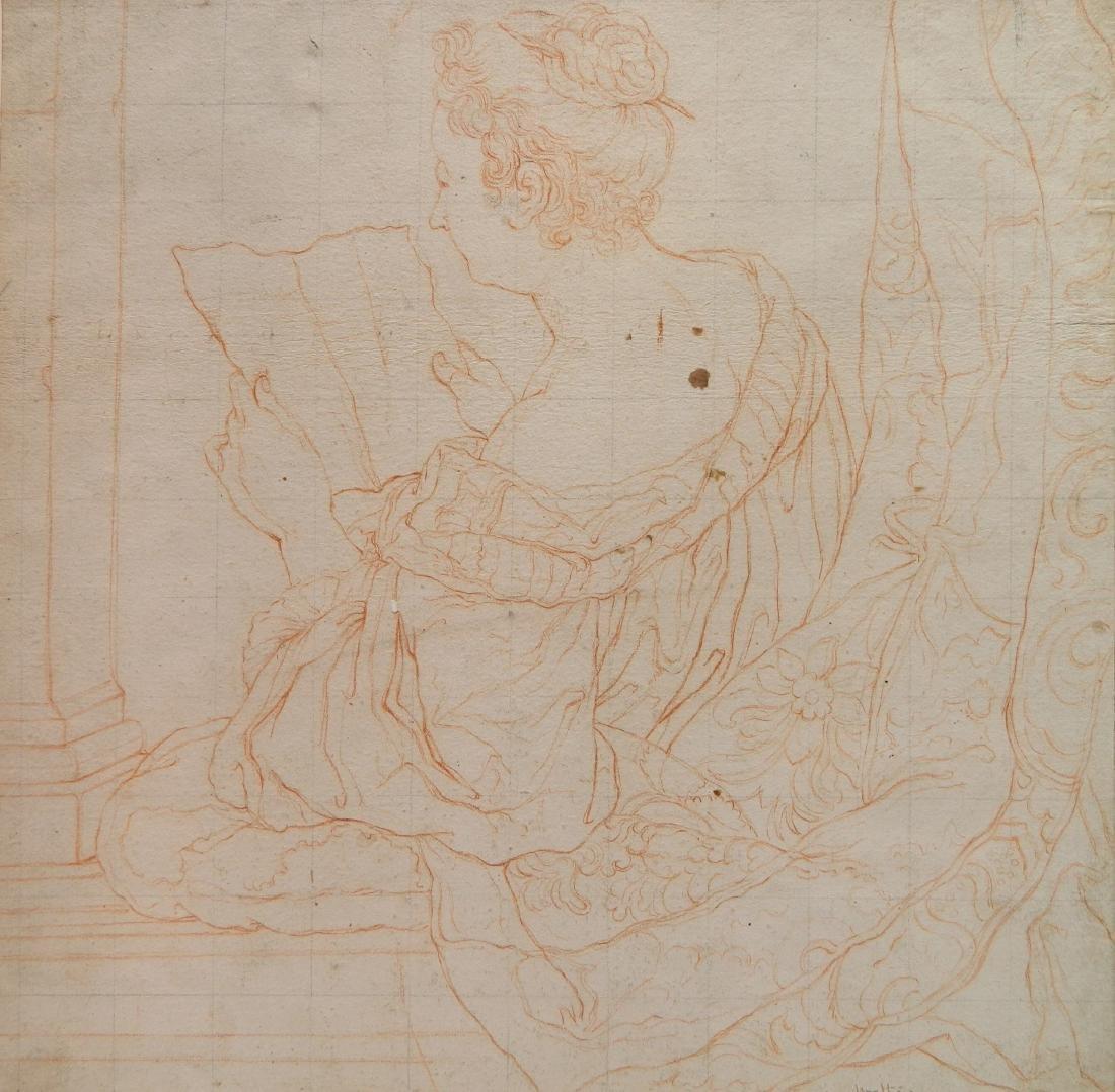 style of Watteau conte crayon