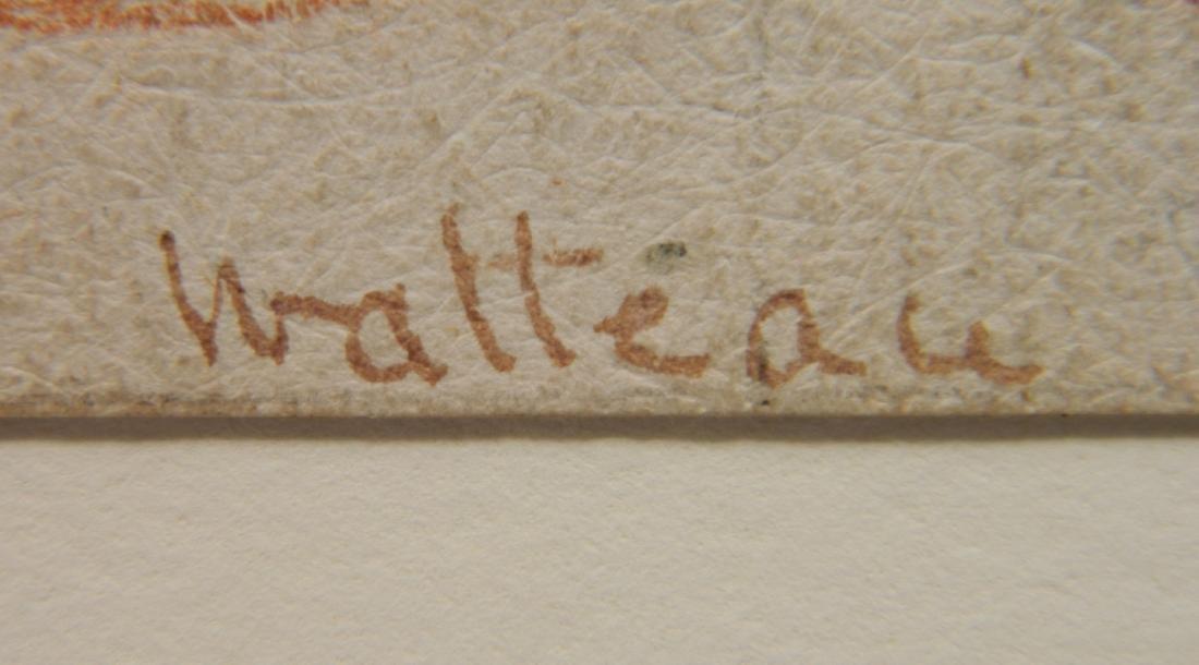 style of Watteau conte crayon - 3
