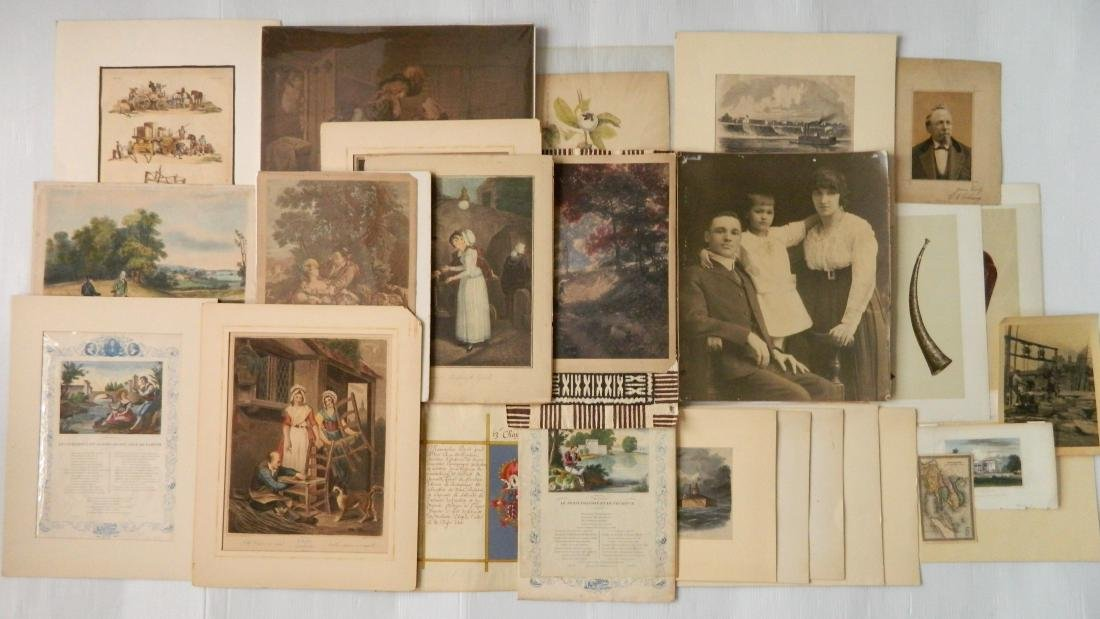Large lot of engravings and other works on paper
