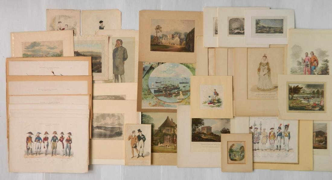 Large lot of engravings and other works on paper - 4