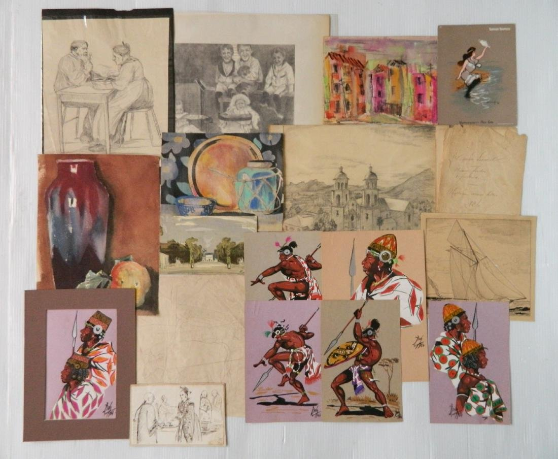 Large lot of works on paper - 2