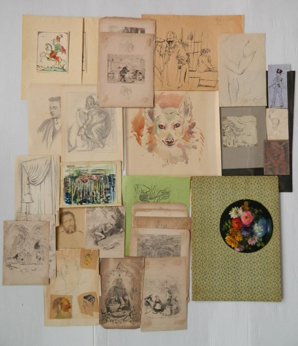 Large lot of works on paper - 3