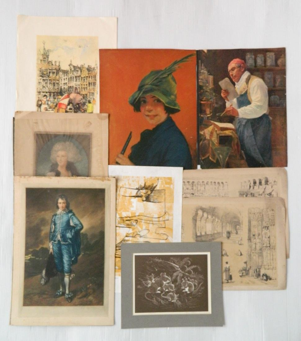 Large lot of works on paper - 6