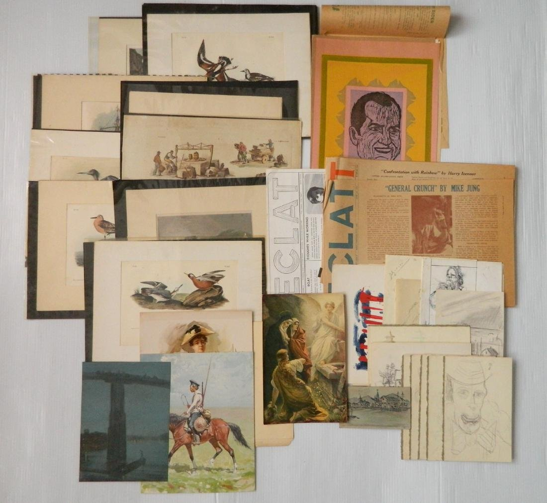 Large lot of works on paper - 7