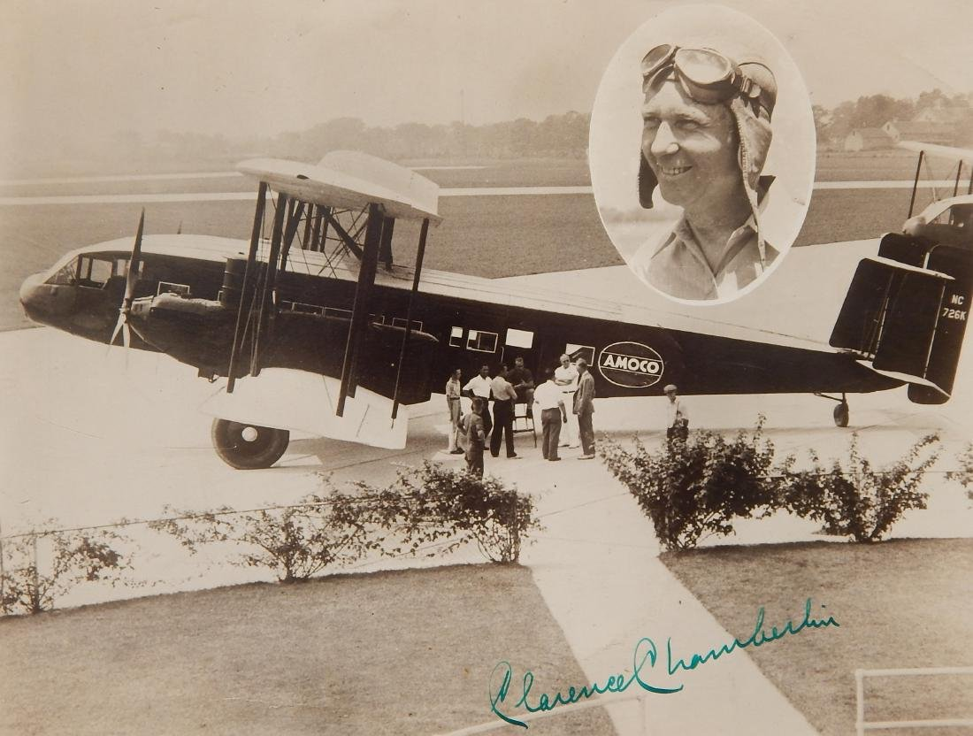 Aviation autographed photograph