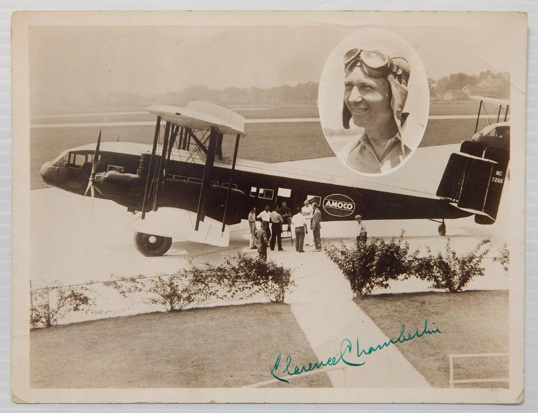 Aviation autographed photograph - 2