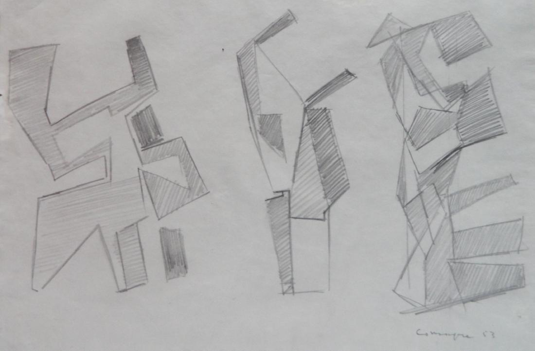 20th c. American School graphite