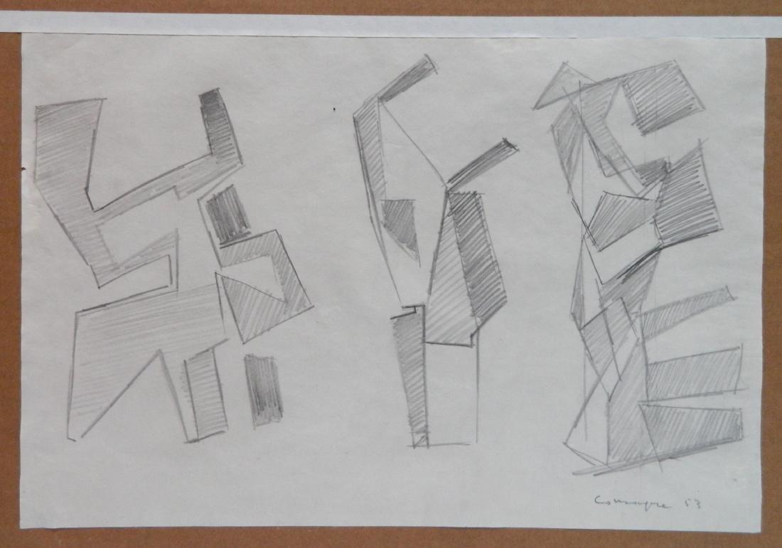 20th c. American School graphite - 2