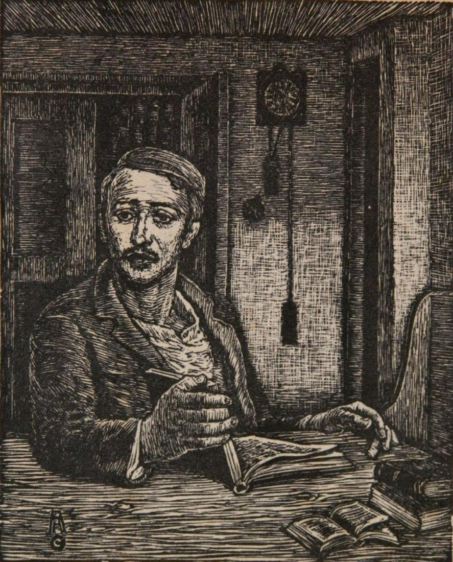 Albert Abramovitz woodcut
