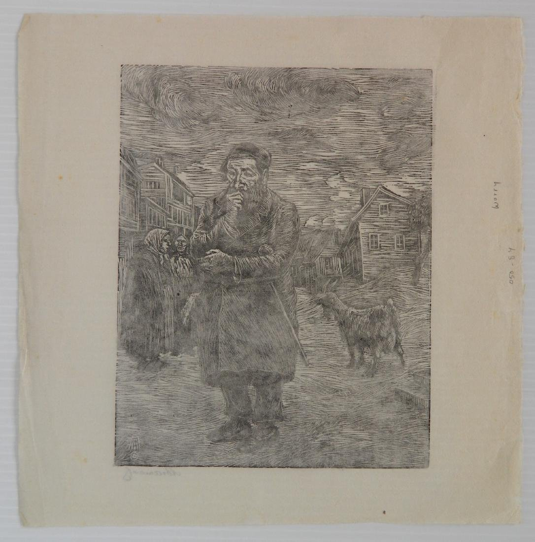 Albert Abramovitz woodcut - 4