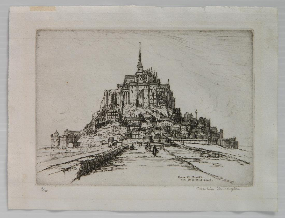 Caroline H. Armington etching - 2