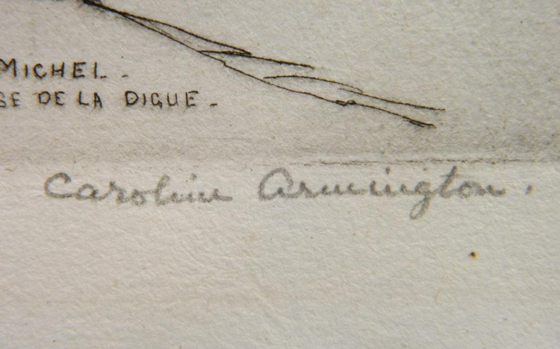 Caroline H. Armington etching - 3