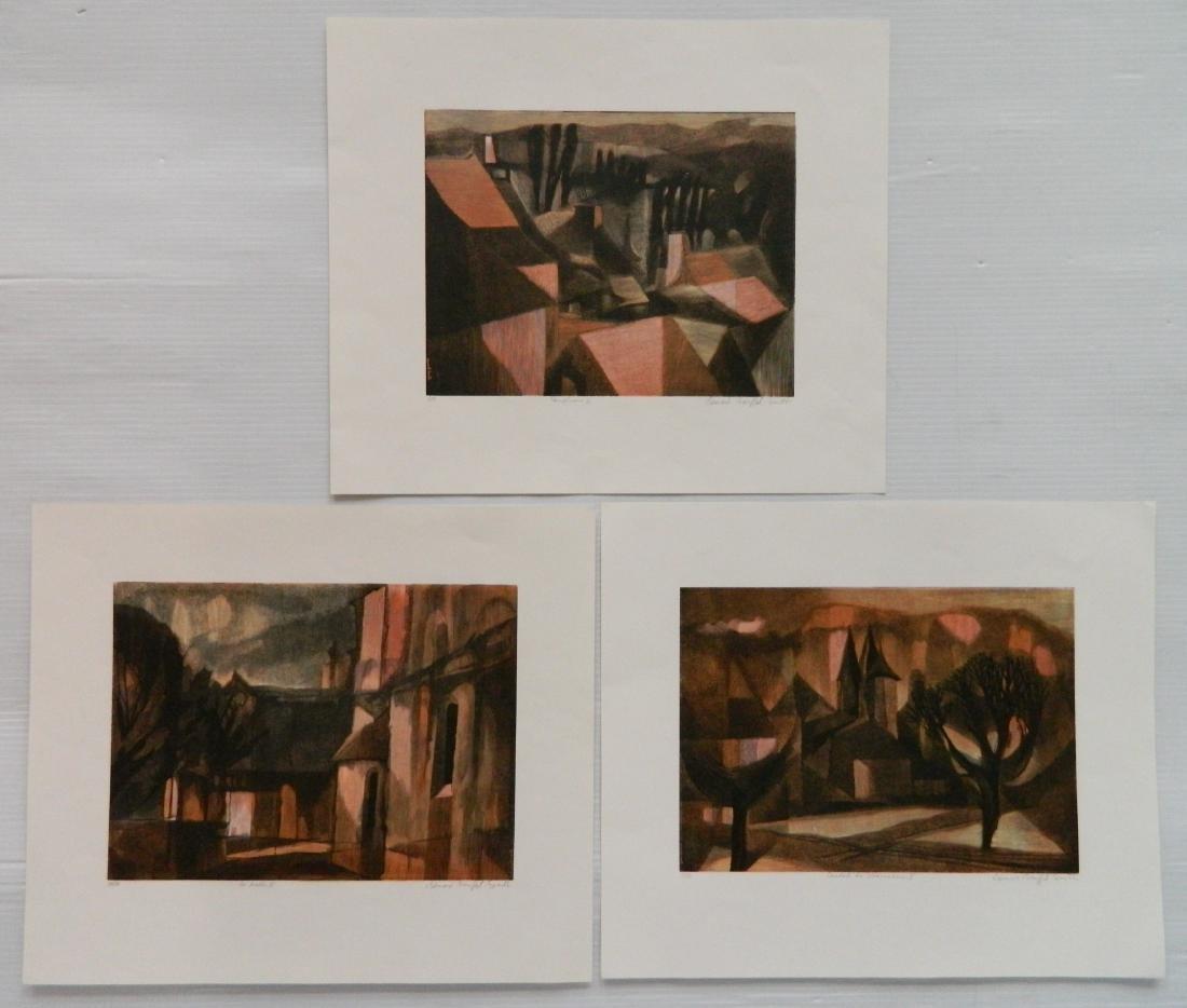 Bernard Brussell Smith 3 wood engravings