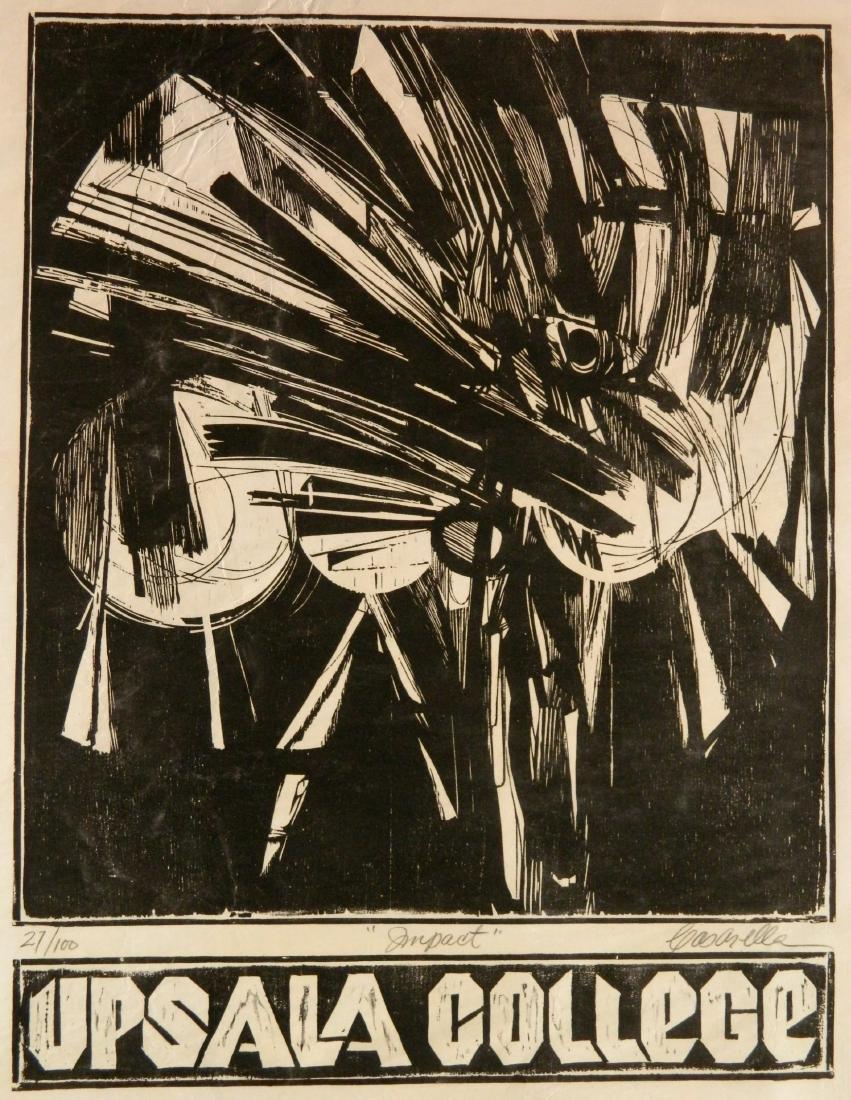 Edmond Casarella woodcut