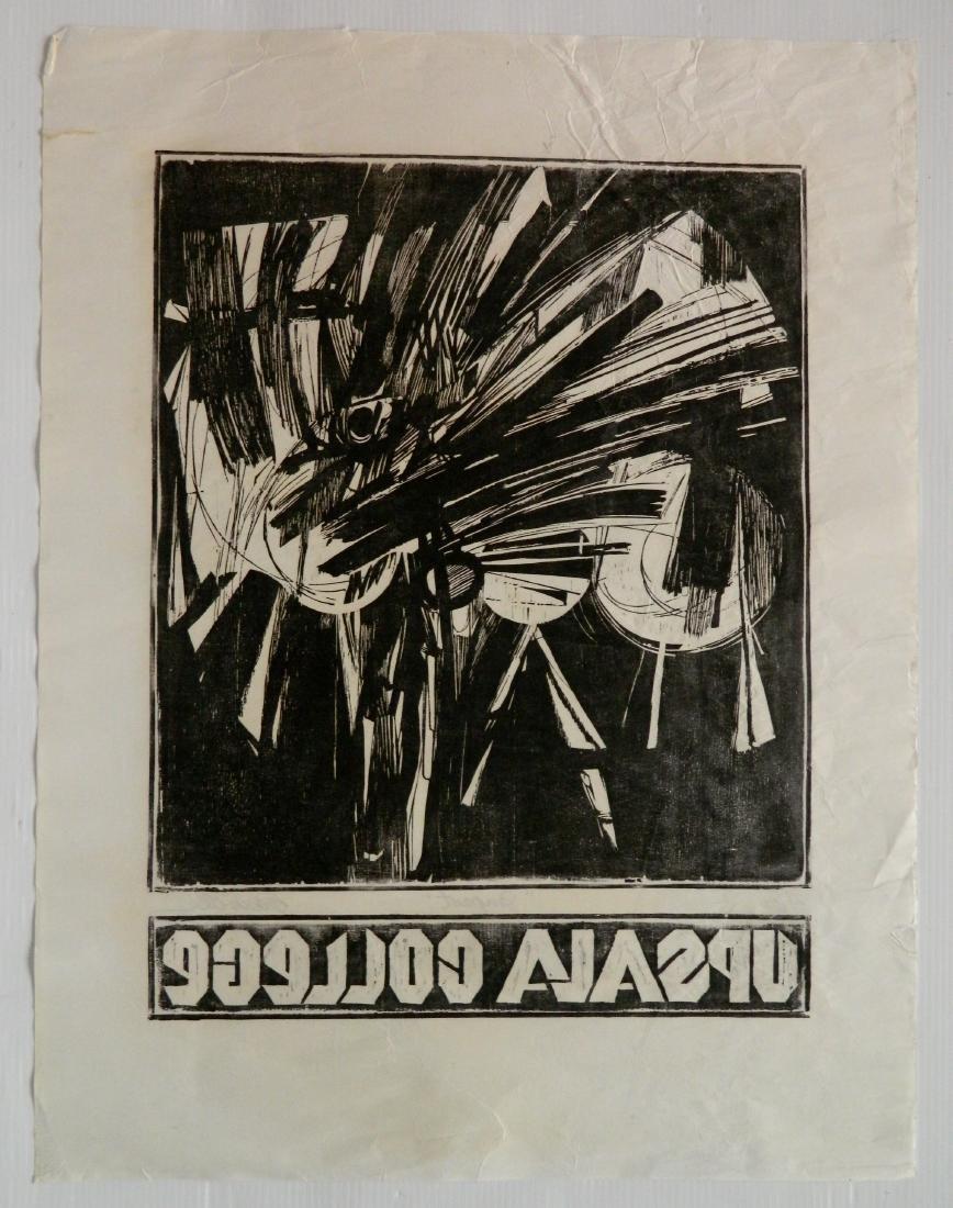 Edmond Casarella woodcut - 4