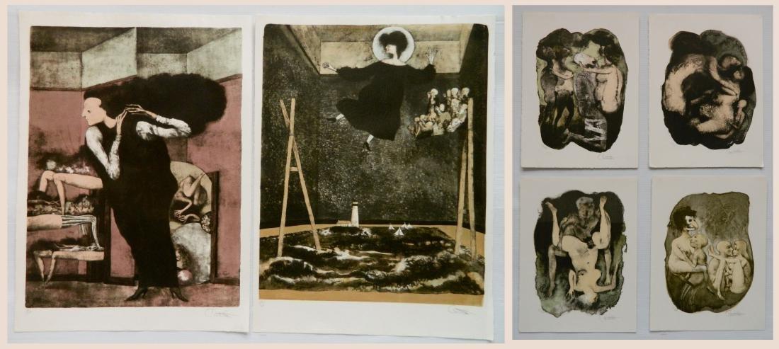 Federico Castellon 6 lithographs