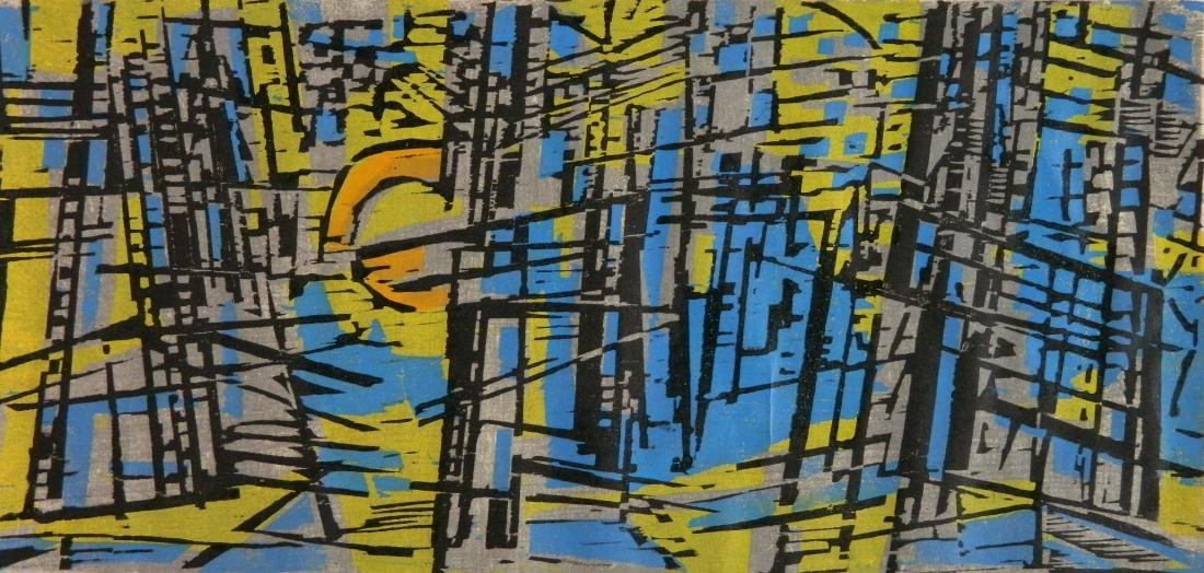 Werner Drewes woodcut