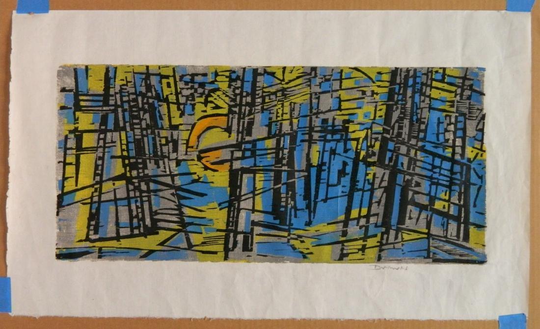 Werner Drewes woodcut - 2
