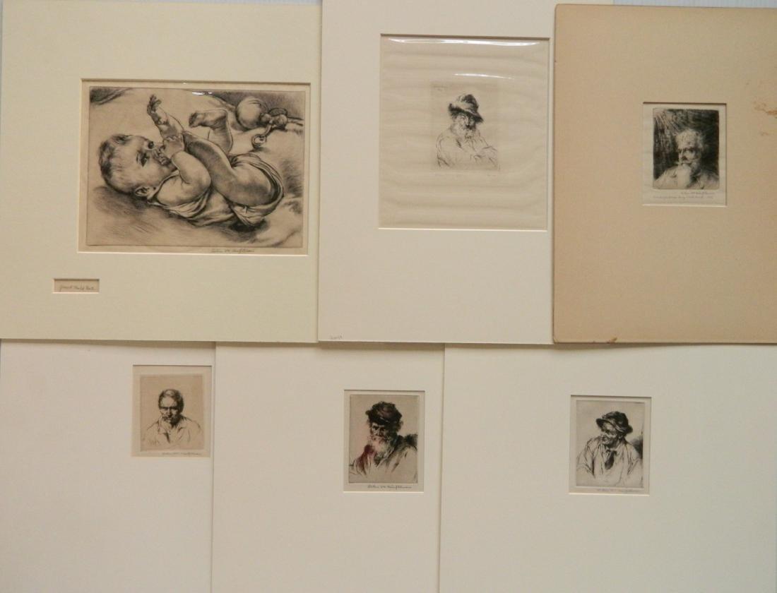 Arthur W. Heintzelman 6 etchings