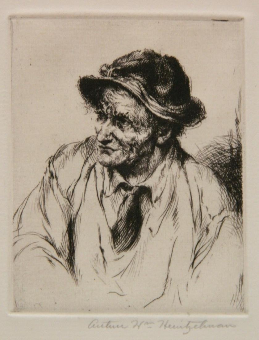 Arthur W. Heintzelman 6 etchings - 3
