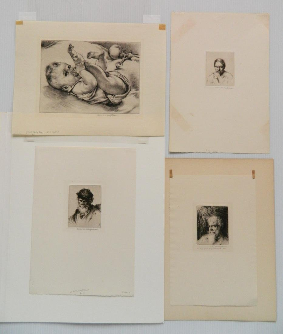 Arthur W. Heintzelman 6 etchings - 4