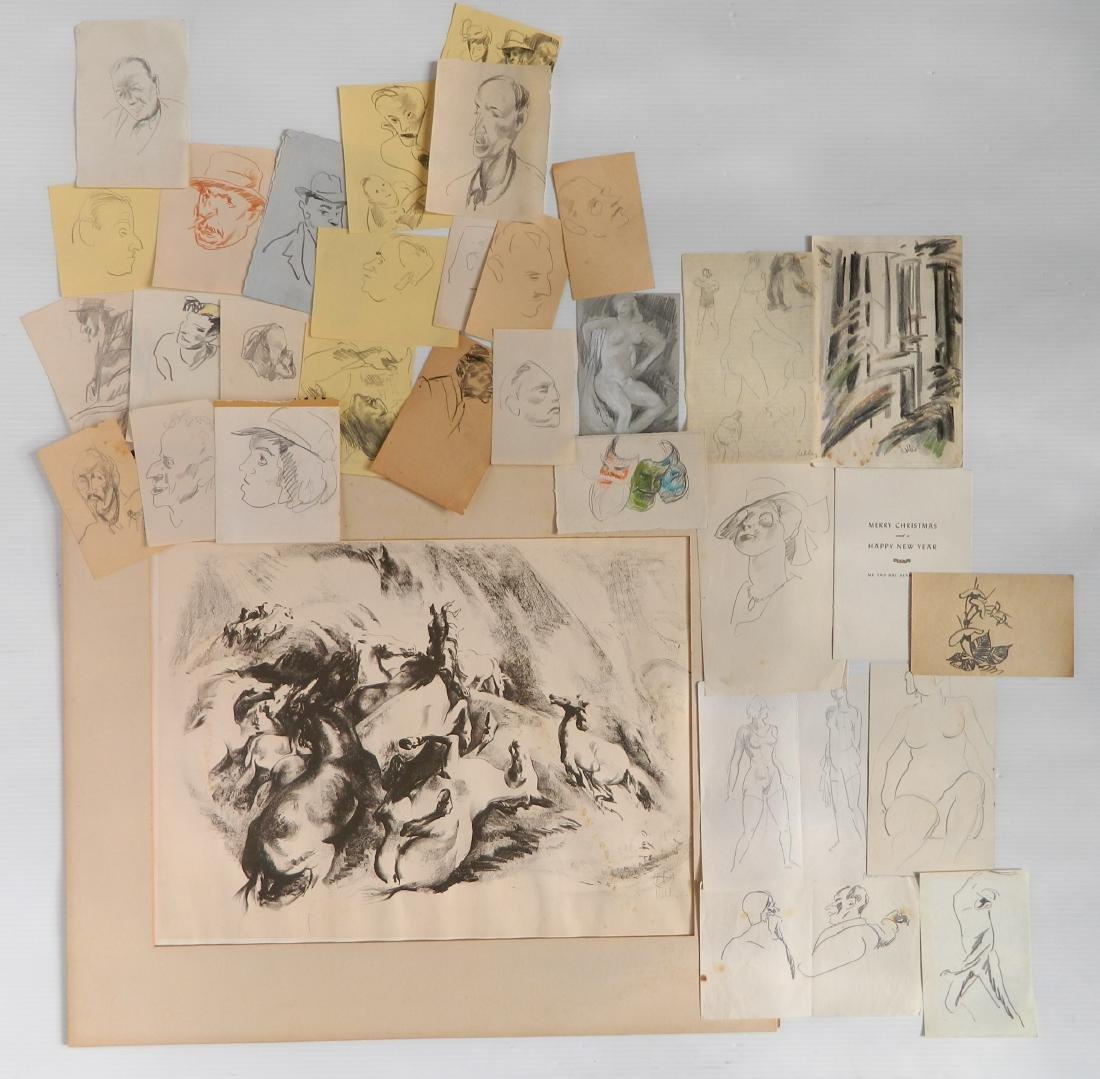 Henry G. Keller works on paper
