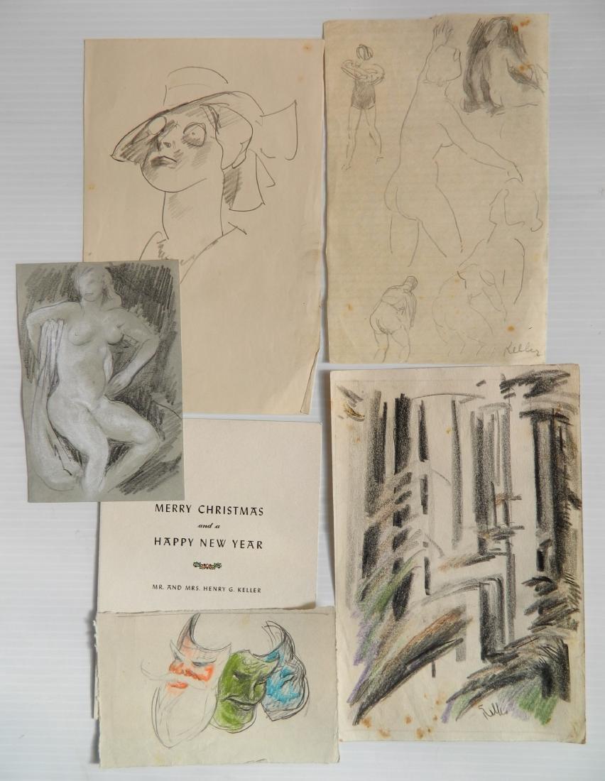 Henry G. Keller works on paper - 3