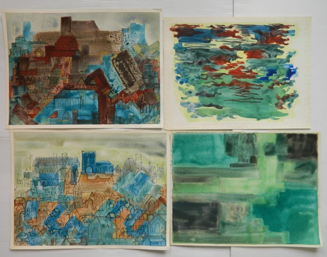 Sidney Loeb watercolors - 3