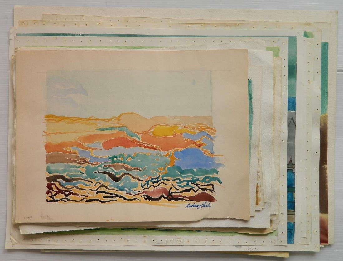 Sidney Loeb watercolors