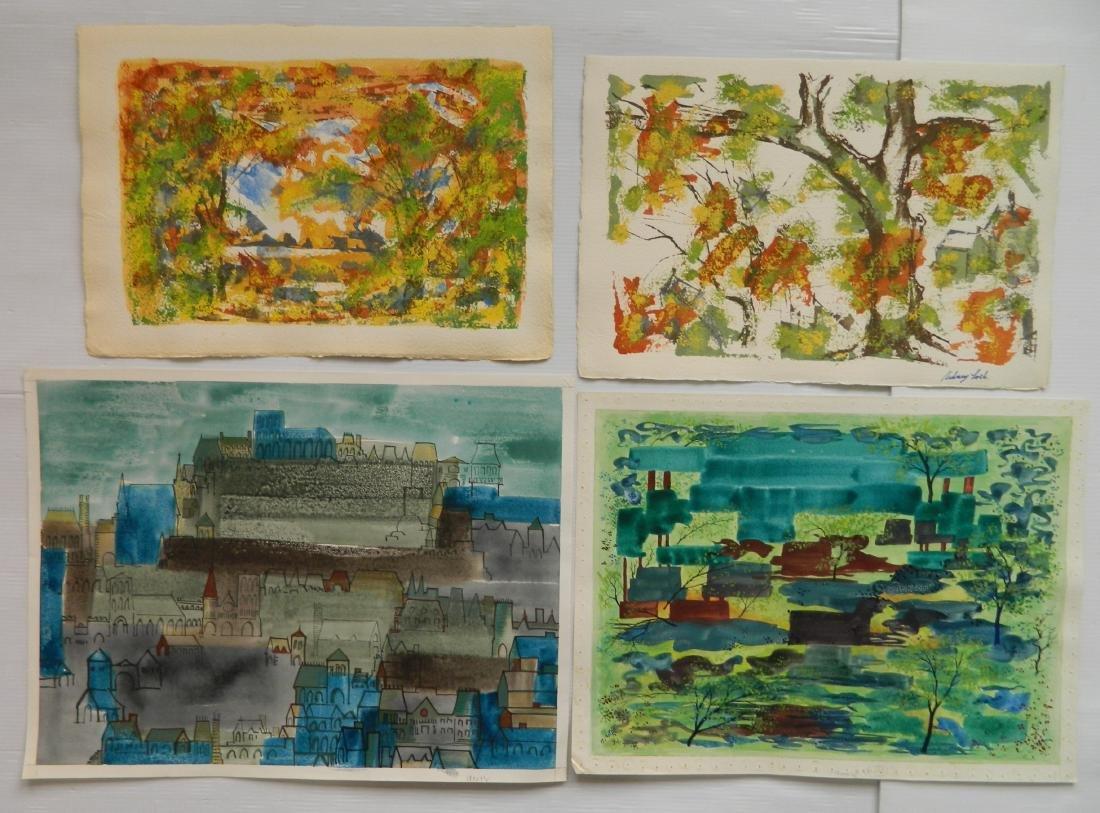 Sidney Loeb watercolors - 5