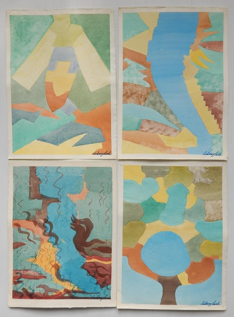Sidney Loeb 22 watercolor - 3