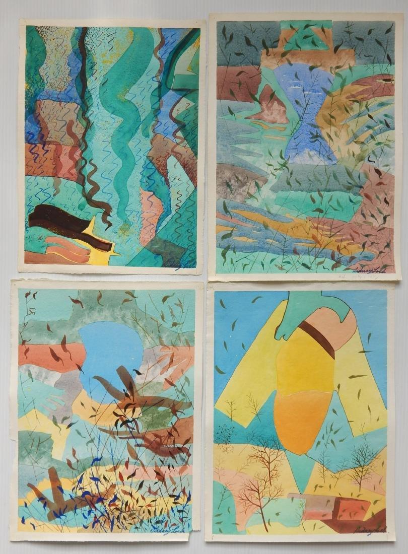 Sidney Loeb 22 watercolor - 4