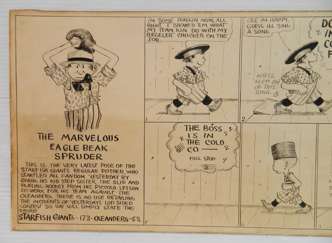 Thomas McNamara pen and ink comic strip - 2