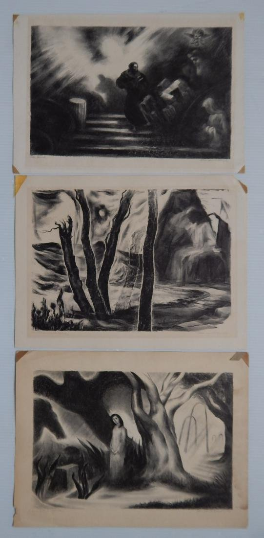 Alice H. Murphy 3 lithographs