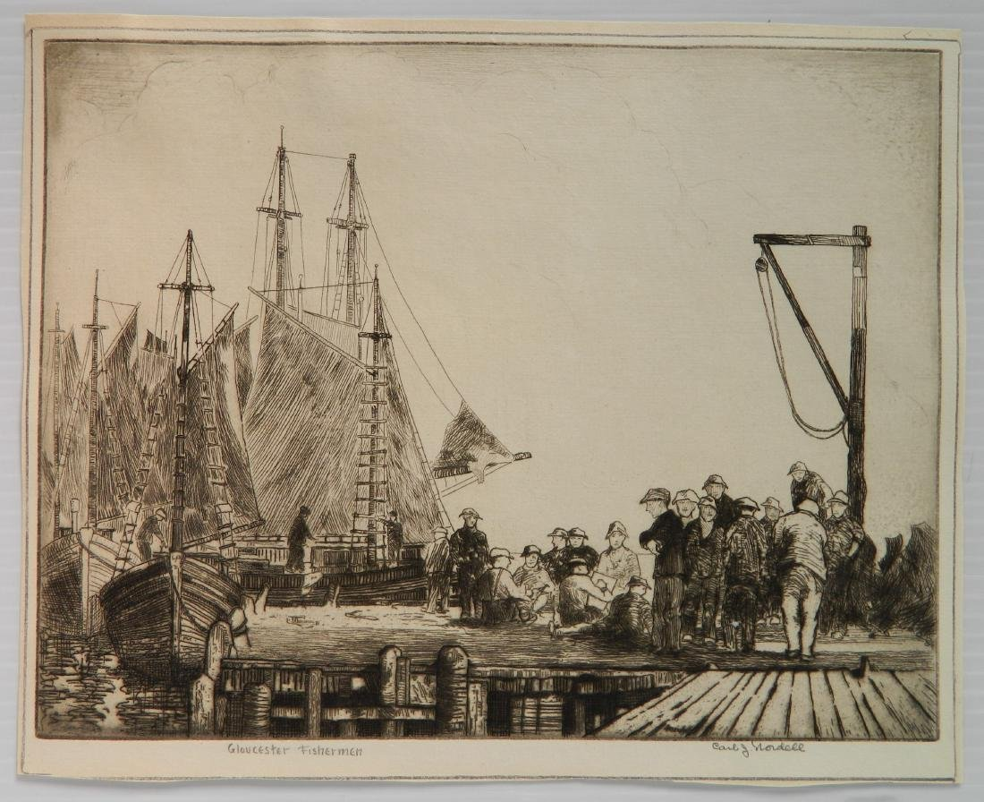 Carl Nordell etching - 2
