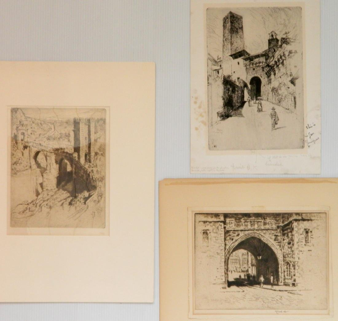 Joseph Pennell 3 etchings