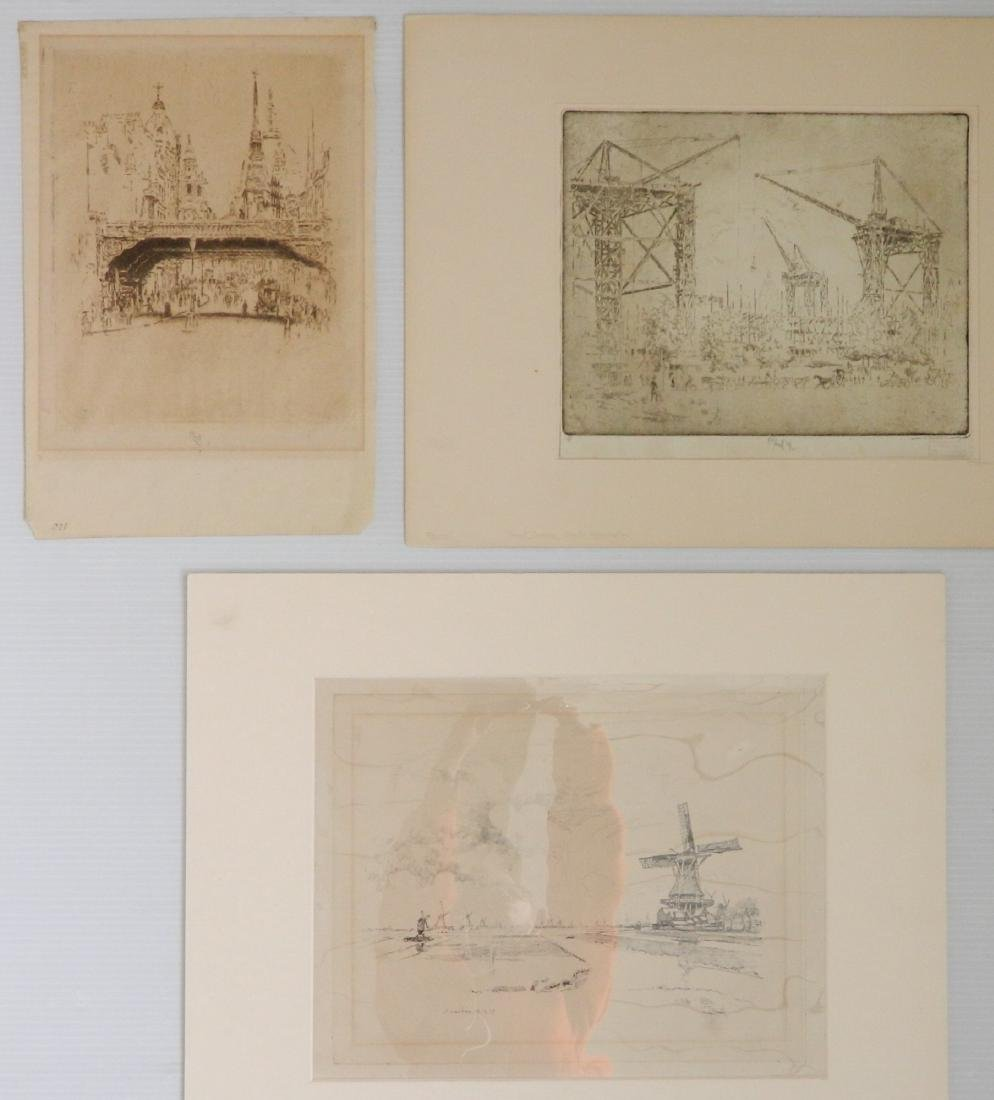 Joseph Pennell 3 works on paper