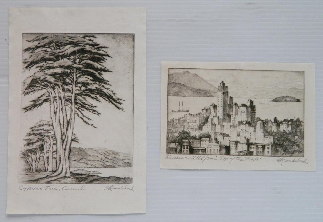 Harriet Roudebush 2 etchings