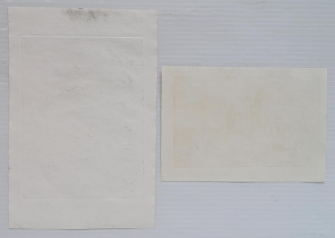 Harriet Roudebush 2 etchings - 2