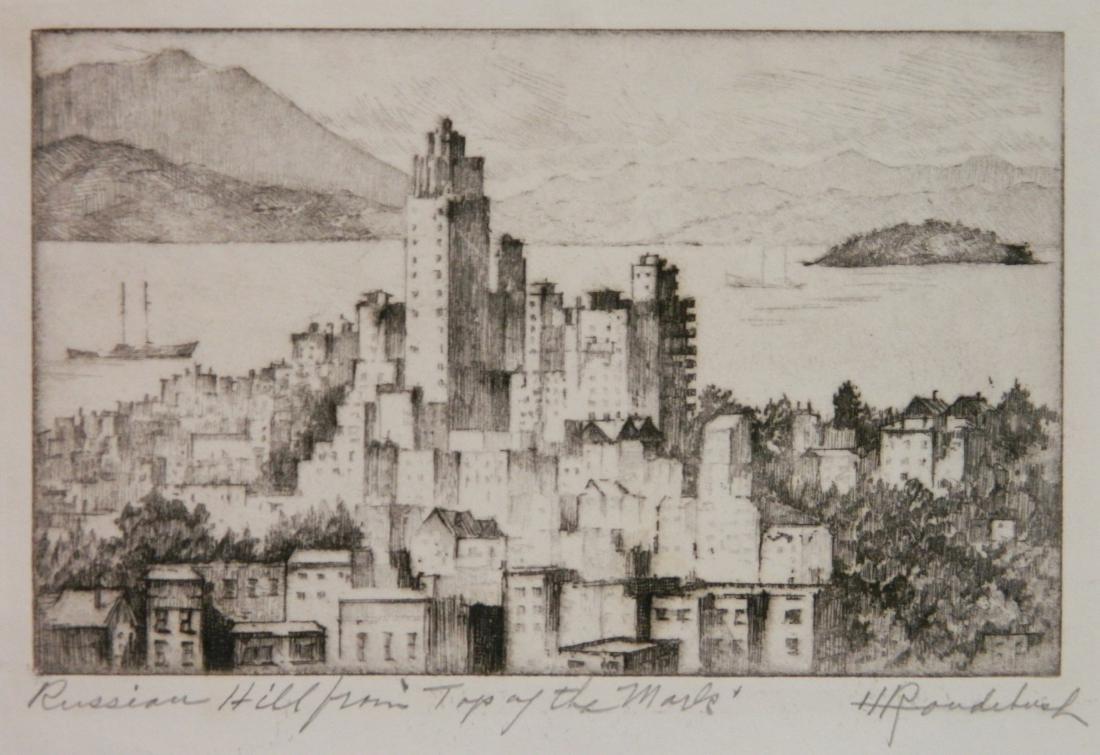 Harriet Roudebush 2 etchings - 3