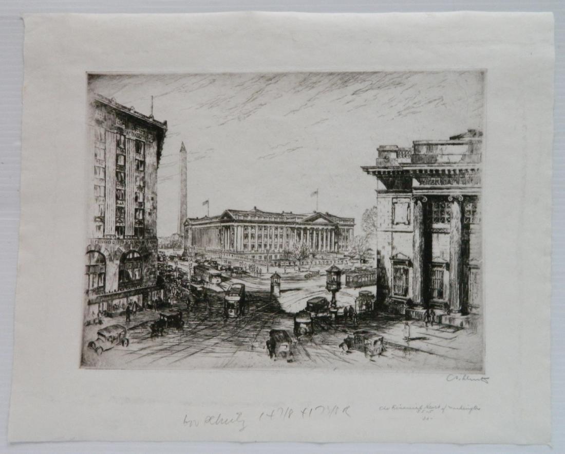 Anton Schutz etching - 2