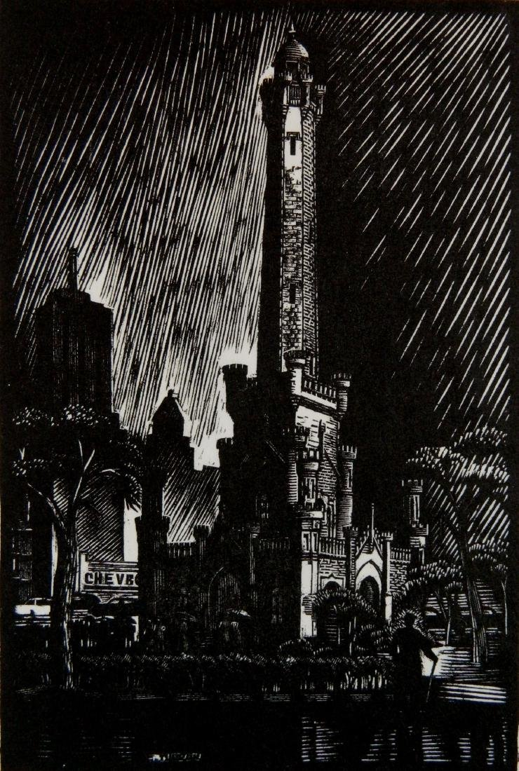 Charles Turzak woodcut