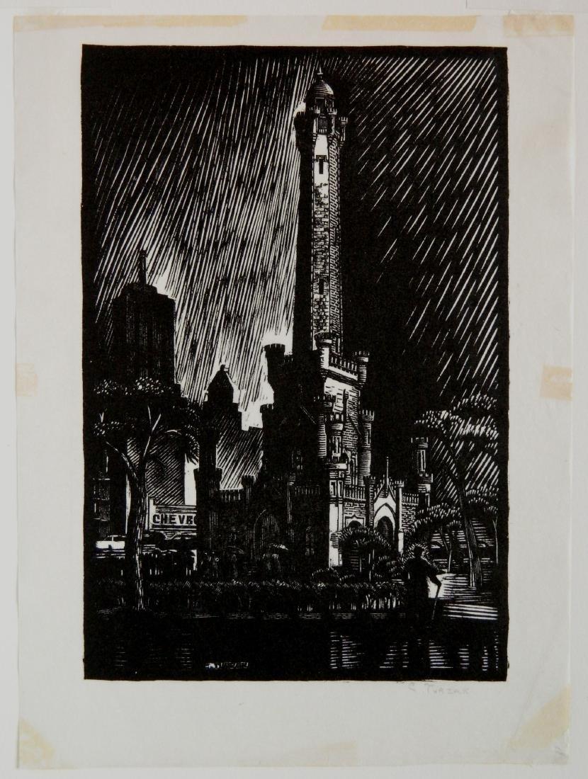 Charles Turzak woodcut - 2