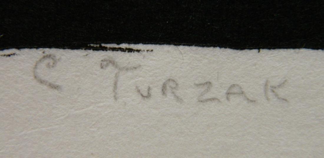 Charles Turzak woodcut - 3