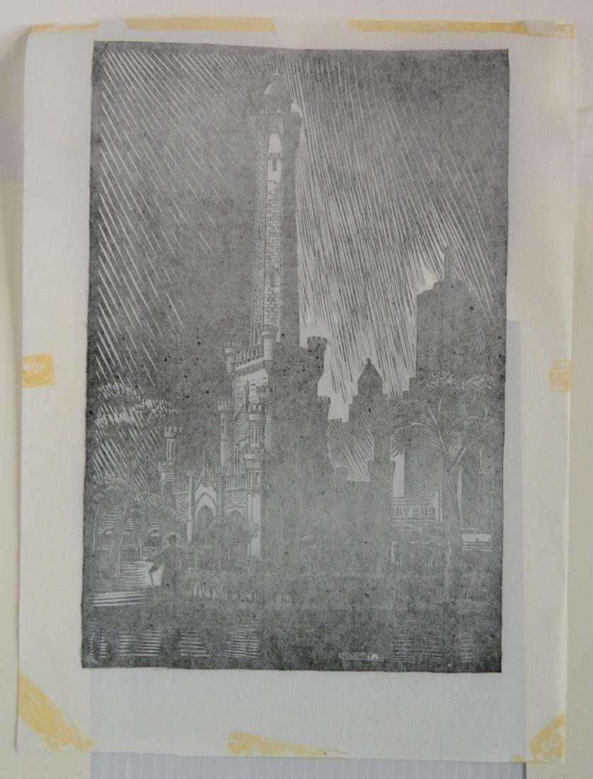 Charles Turzak woodcut - 4