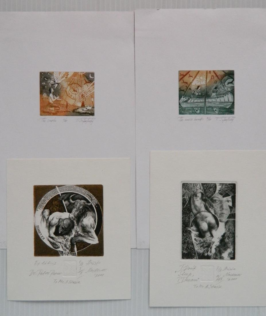 Hristo Naidenov 4 Miniature etchings