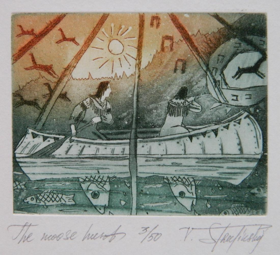 Hristo Naidenov 4 Miniature etchings - 3