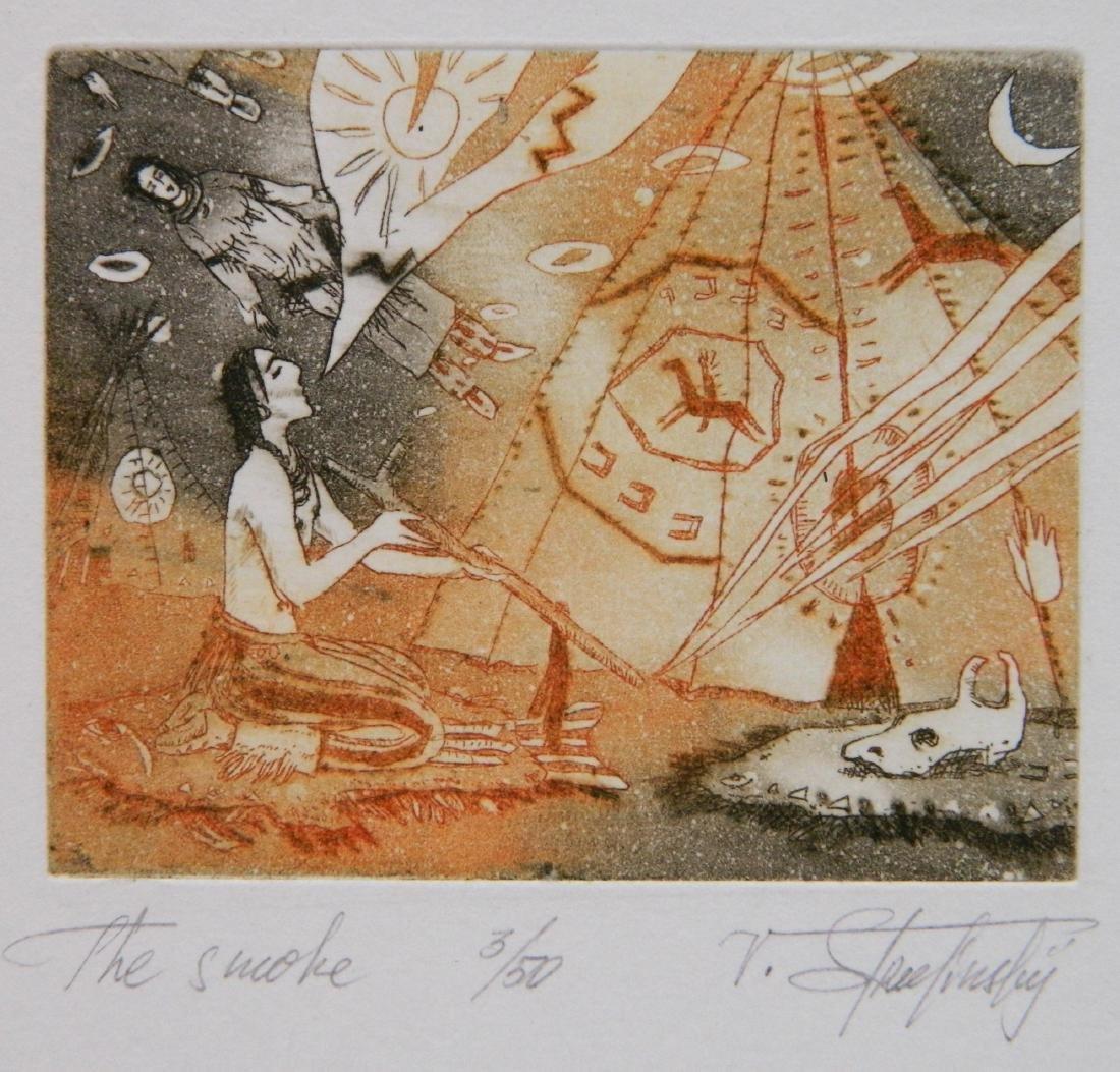 Hristo Naidenov 4 Miniature etchings - 4