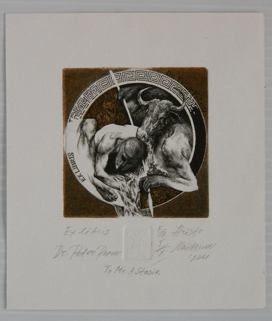 Hristo Naidenov 4 Miniature etchings - 5